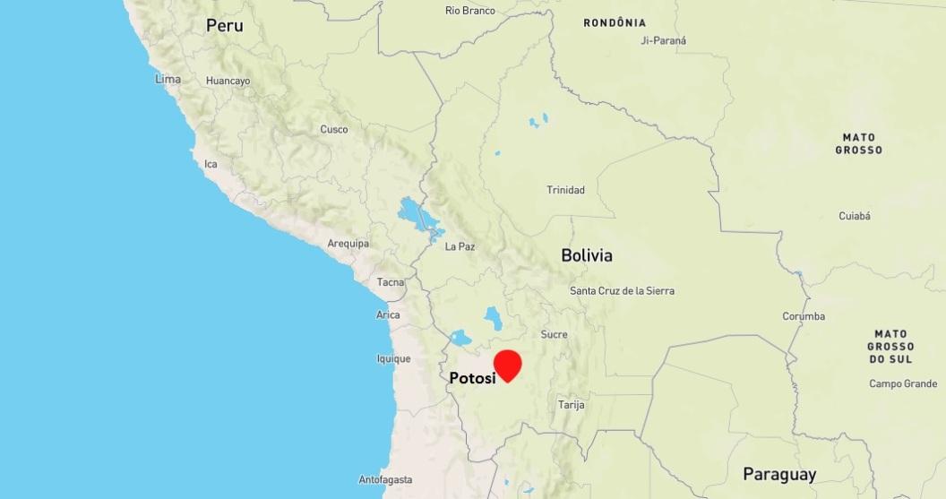 Carte, Potosi, Bolivie