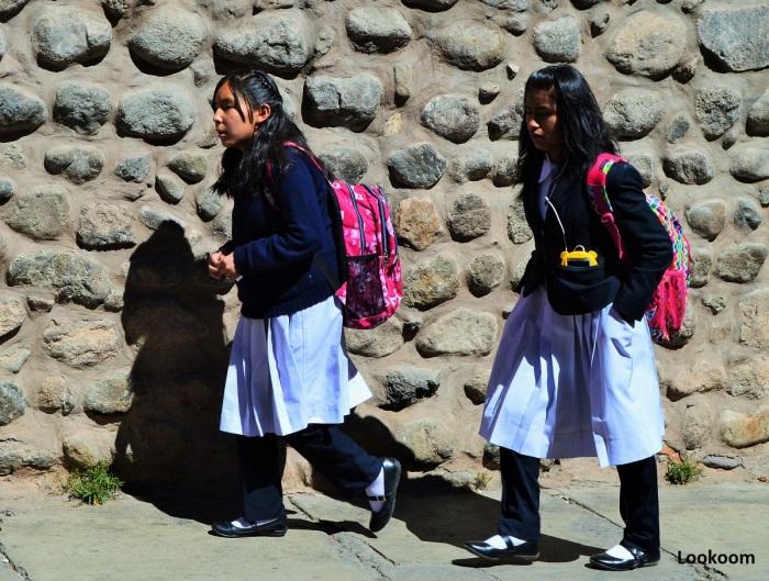 Ecolières, Potosi, Bolivie